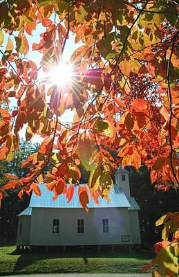 Autumn Sunshine Missionary Baptist Church Art Print by John Saunders