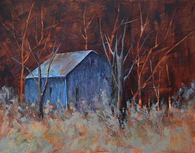 Pastel Barns Painting - Autumn Surprise by Lee Beuther