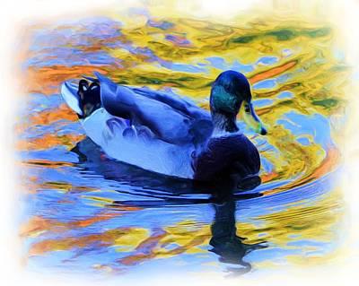Autumn Swimmer Art Print by Cindi Snow