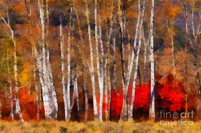 Autumn Tapestry Art Print by Clare VanderVeen
