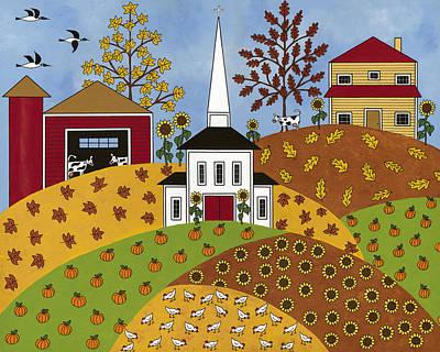 Autumn Tapestry Art Print by Medana Gabbard