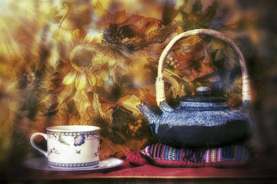 Photograph - Autumn Tea Party - Fall - Teapot by Jason Politte