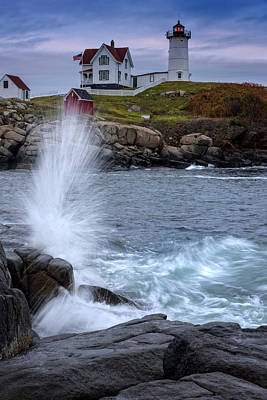 New England Lighthouse Photograph - Autumn Tide by Rick Berk
