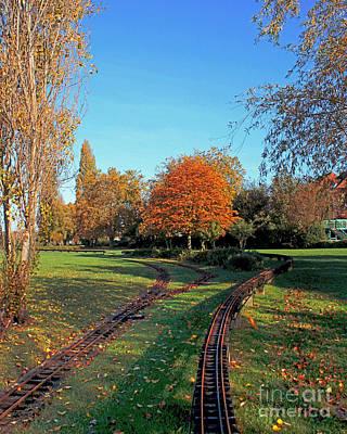 Autumn Tracks Art Print by Terri Waters