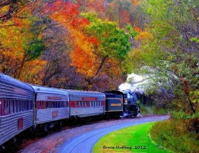 Art Print featuring the painting Autumn Train by Bruce Nutting