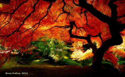 Art Print featuring the painting Autumn Tree by Bruce Nutting