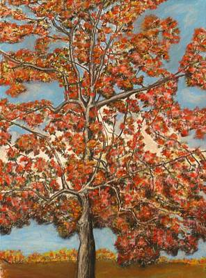 Pastel - Autumn Tree by Michael Anthony Edwards