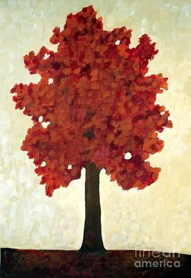 Vanguard Painting - Autumn Tree by Venus