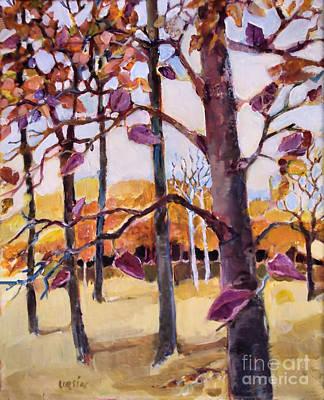 Autumn Trees Art Print by Diane Ursin