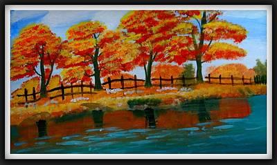 Autumn Trees Art Print by Vijai Coimbatore natarajan