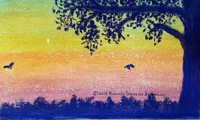 Painting - Autumn Twilight by Brenda Stevens Fanning