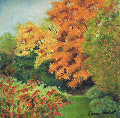 Autumn Uplands Farm Art Print