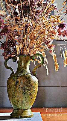 Still Life Royalty-Free and Rights-Managed Images - Autumn Vase by Gary Richards