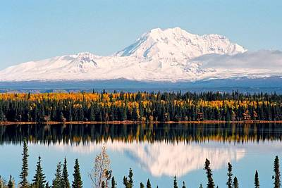 Photograph - Autumn View Of Mt. Drum - Alaska by Juergen Weiss