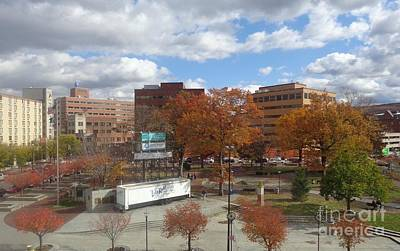 Photograph - Autumn View - Public Square by Christina Verdgeline