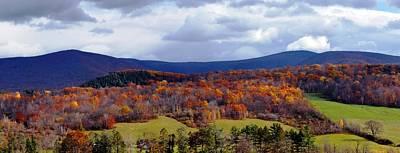 Autumn View Toward Mount Greylock Art Print by Geoffrey Coelho