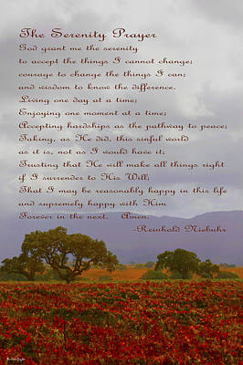 Autumn Vineyard The Serenity Prayer Art Print