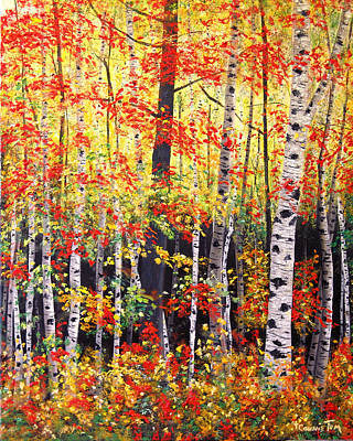 Painting - Autumn Virtuoso I by Connie Tom