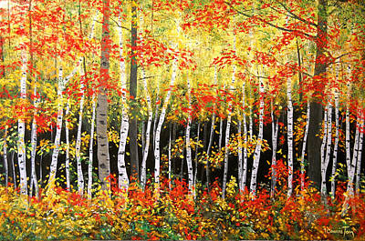 Painting - Autumn Virtuoso II by Connie Tom