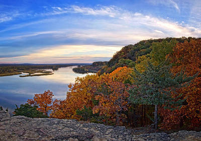 Photograph - Autumn Vista At Ferry Bluff by Leda Robertson