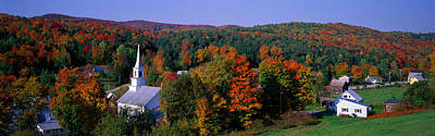 New England Village Photograph - Autumn, Waits River, Vermont, Usa by Panoramic Images