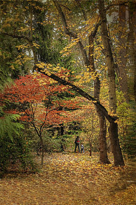 Autumn Walk Print by Diane Schuster