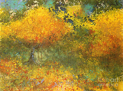Autumn Walk Art Print by Gwen Nichols