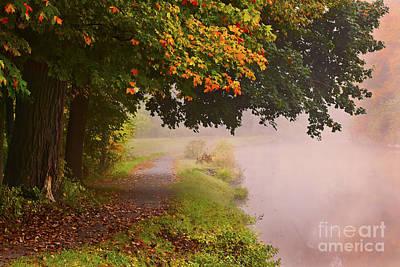 Autumn Walk Art Print by Julie Palyswiat