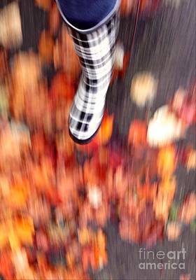 Photograph - Autumn Walk Motion by Susan Garren