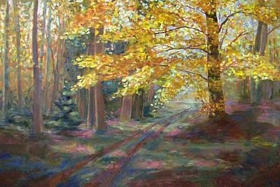 Autumn Walk Art Print by Robie Benve