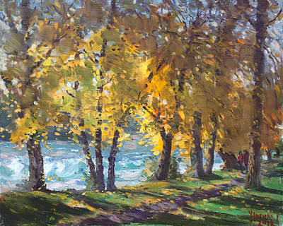 Niagara Falls Painting - Autumn Walk by Ylli Haruni