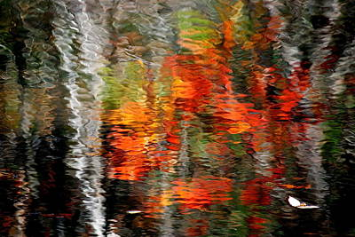 Photograph - Autumn Water Colors by Frozen in Time Fine Art Photography
