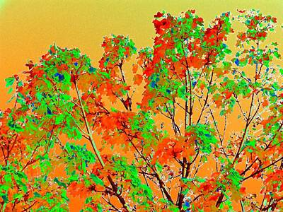 Digital Art - Autumn Watercolor Painting by Will Borden