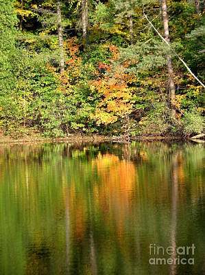 Photograph - Autumn Watercolor Reflections by Rose Santuci-Sofranko