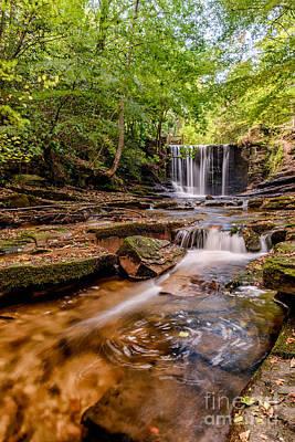 Mill Digital Art - Autumn Waterfall by Adrian Evans