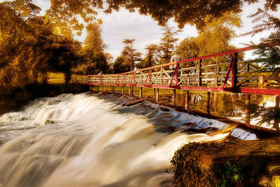 Photograph - Autumn Waterfall / Maynooth by Barry O Carroll