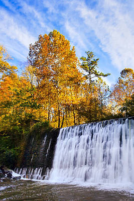 Photograph - Autumn Waterfalls In Roswell Georgia by Mark E Tisdale