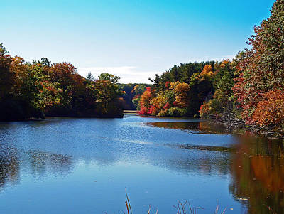 Autumn Waterway Art Print by Aimee L Maher Photography and Art Visit ALMGallerydotcom