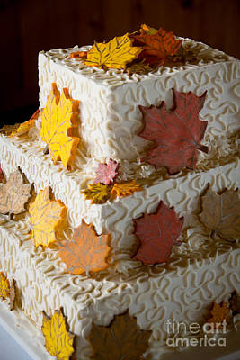 Photograph - Autumn Wedding Cake by Cheryl Baxter