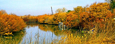 Autumn Weekend On The Delta Art Print by Joseph Coulombe