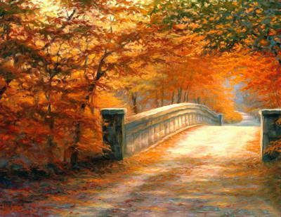Impressionistic Landscape Painting - Autumn Whispers by Georgiana Romanovna