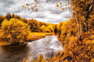 Maine Meadow Photograph - Autumn White Mountains Maine by Bob Orsillo