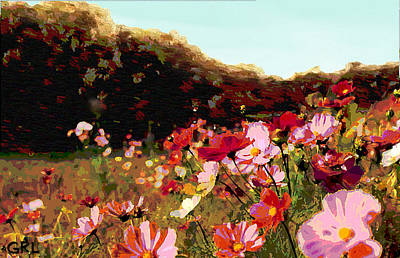 Painting - Autumn Wildflowers Maryland Original Art by G Linsenmayer