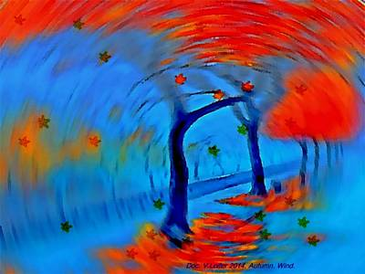 Digital Art - Autumn. Wind by Dr Loifer Vladimir