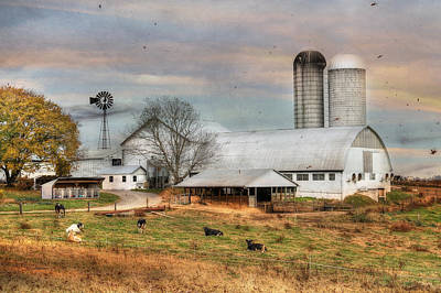 Rural Scenes Digital Art - Autumn Wind by Lori Deiter