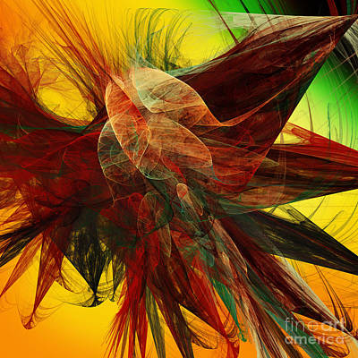 Digital Art - Autumn Wings by Andee Design