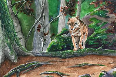 Autumn Wolf Art Print