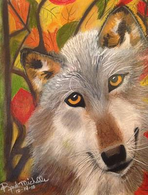 Painting - Autumn Wolf by Renee Michelle Wenker