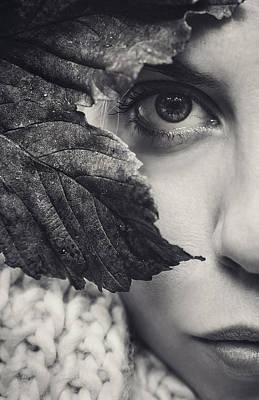 Photograph - Autumn Woman by Oscar Sánchez Photography