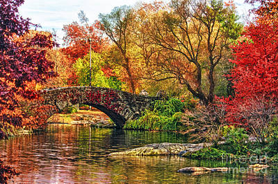 Newyork Digital Art - Autumn Wonderland by Nishanth Gopinathan